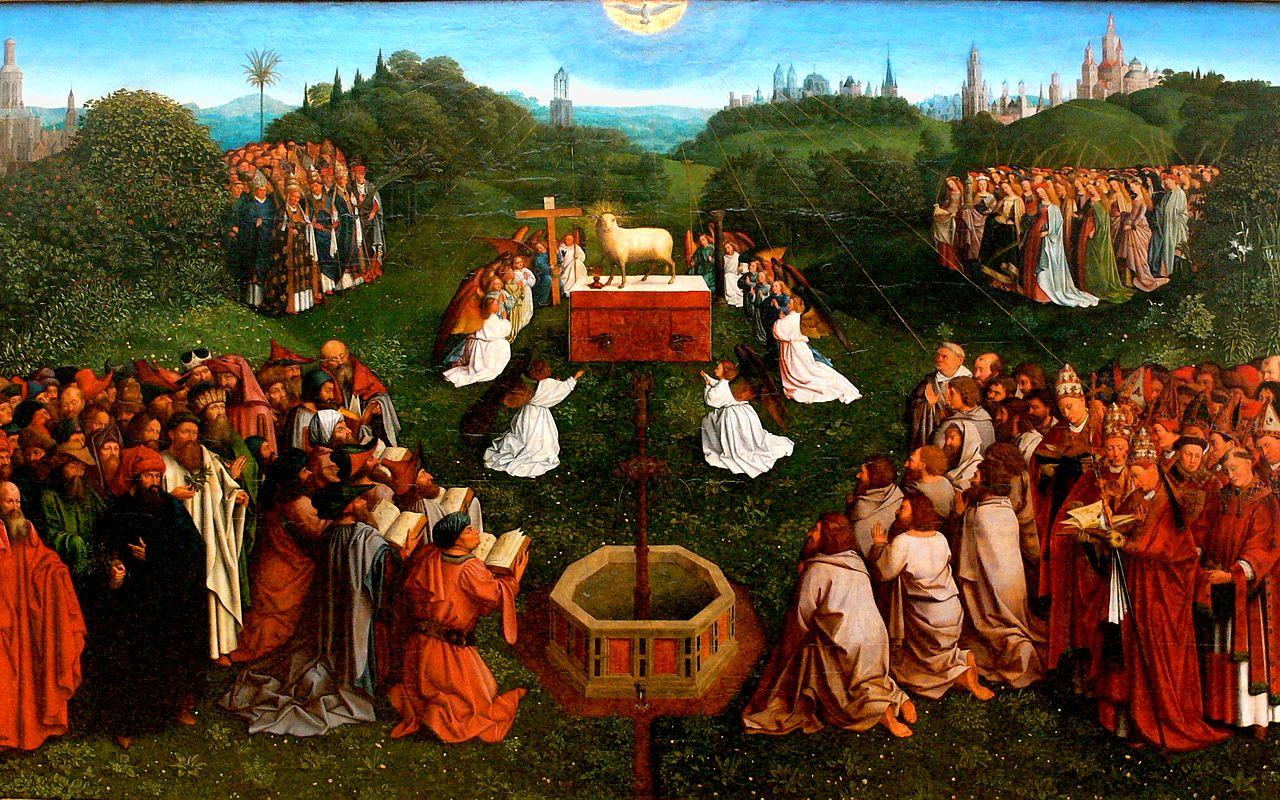 Jan van Eyck, Anbetung Lamm Gottes